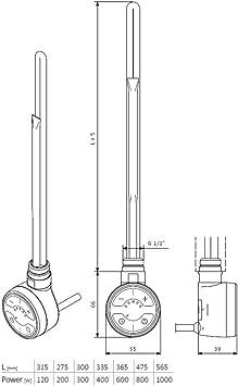 Design-Handtuchheizk/örper in Wei/ß Gerade Sprossen Hudson Reed Ive 800 x 600 mm