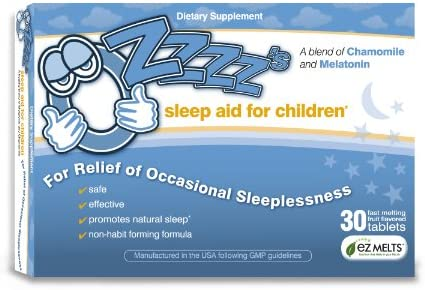 OZzzz's Sleep Aid for Children-30 Fruit Flavored, EZ Melts (fast-melting) Tablets. Pediatrician Recommended. All Natural. Guaranteed Results! – The Super Cheap