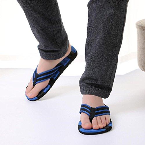 Inkach Mode Mens Sandales Dété Sandales De Bain Pantoufles Plage Plat Chaussures Bleu