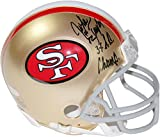 NFL San Francisco 49ers John Taylor Signed Mini Helmet with 3x SB Champs Inscribed