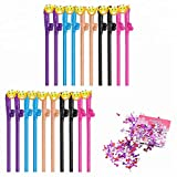 20 Piece Naughty Bachelorette Party Drinking Straws Confetti Set - Funny Bridal Shower Ballon Party Decorations Kit Supplies Wedding Favors Photo She Said Yas Same Forever Miss to Mrs. Banner Gift