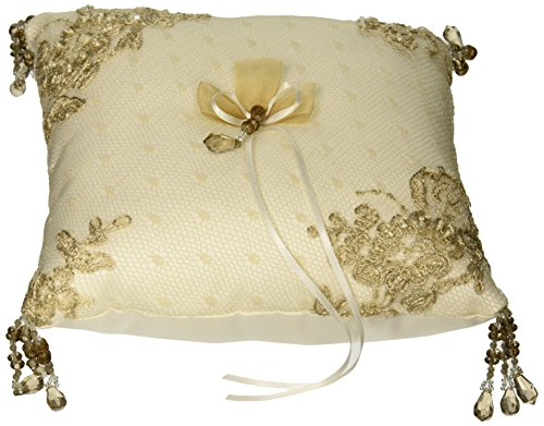 Bella Donna Wedding Accessories Ring Pillow, Ivory - Beverly Clark Ring Pillow