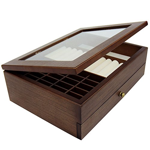 2 X Box Drawer - Ikee Design Large Premium Wooden Jewelry Box Organizer Storage for Necklaces, Bracelets, Earrings, Rings