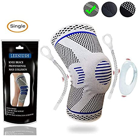 Joint Pain Relief /& Sports Injury Recovery Meniscus Tear Knee Sleeves Knee Support for Arthritis Lexniush Knee Brace Compression Sleeve Best Knee Braces for Women /& Men