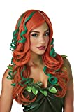 California Costume Collection - Root of All Evil Orange and Green Adult Wig
