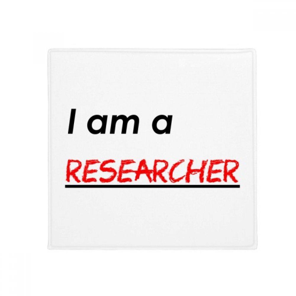 DIYthinker Quote I Am A Researcher Anti-Slip Floor Pet Mat Square Home Kitchen Door 80Cm Gift