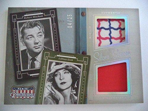 2015 Panini American Pie Robert Michum Lillian Gish Rare 04/25 Card Multi Relics - Panini Certified