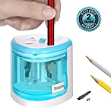 Electric Pencil Sharpener,Double A Battery Operated Heavy Duty Colored Pencil Sharpener For Kids (blue)
