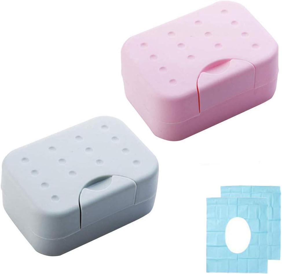 Reise Tragbar Seifenschale Box Halter Mit Deckelschloss Wasserdicht Versiegelt