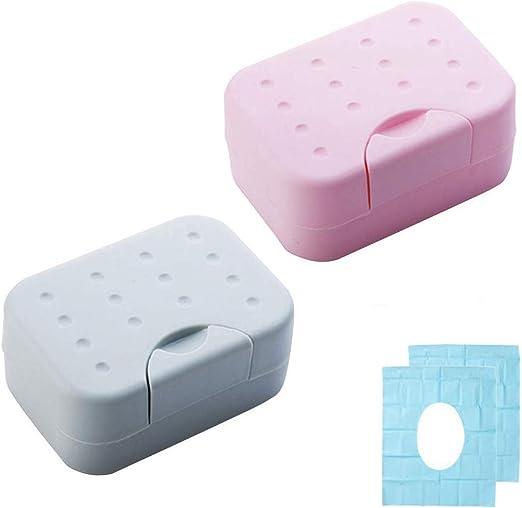 Jabonera Baño de Viaje Caja de Jabón Durable Plástico Resistente ...
