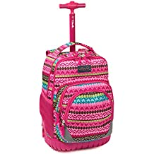 Tilami New Antifouling Design 18 Inch Oversized load multi-compartment Wheeled Rolling Backpack Luggage for Kids