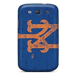Anti-Scratch Hard Phone Covers For Samsung Galaxy S3 (YGf28606aAhe) Unique Design Trendy New York Mets Pattern