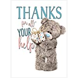 Thanks For All Your Help Me to You Bear Thank You Card