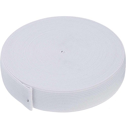 White Knit Elastic Spool (1 Inch x 11 ()