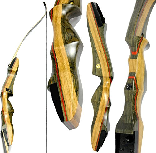 Bow Products : Spyder Takedown Recurve Bow and arrow by Southwest Archery USA | weights 20 25 30 35 40 45 50 55 60 lb | LEFT or RIGHT HANDED Archery Kit | Designed by Engineers of the Samick Sage |