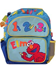 Sesame Street Elmo 123 for School Backpack with a Free Water Bottle