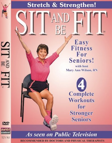Sit And Be Fit Stretch And Strengthen Award-Winning Senior Fitness Chair Exercise Workout Stretching, Strength Training, and Balance. Improve flexibility, muscle and bone strength, circulation, heart health, and stability, Developed By Mary Ann Wilson, RN (Chair Yoga For Seniors Dvd)