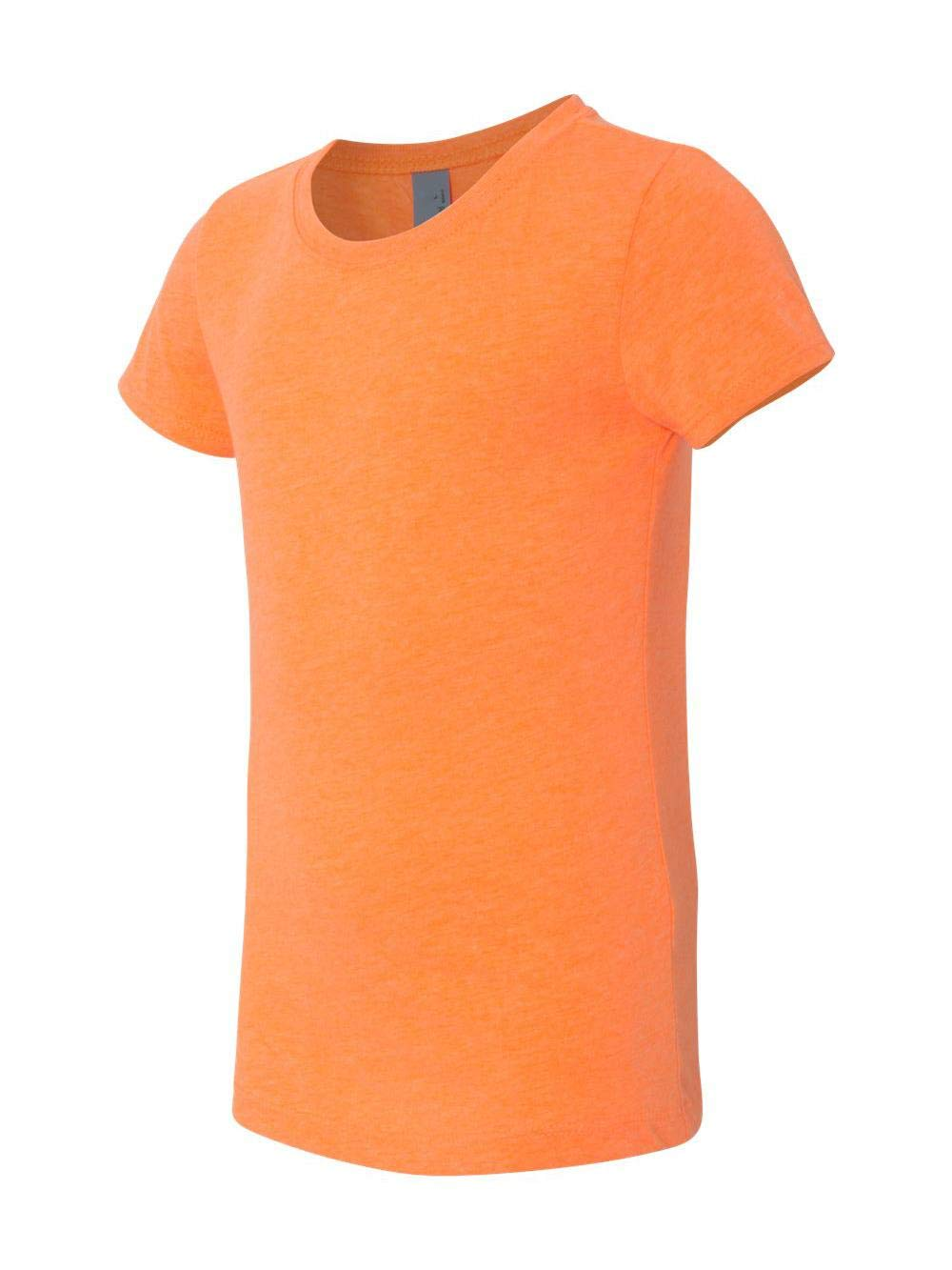 Next Level Girls' Princess Cvc Tee (Neon Heather Orange) (L)
