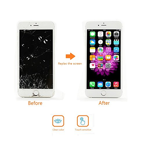 Screen Replacement Compatible iPhone 6S White(4.7inch)Digitizer Repair LCD replacement Kit assembly by Milemont (Image #6)