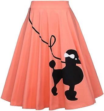 ShuangRun mini falda con falda para mujer, informal, de cintura ...