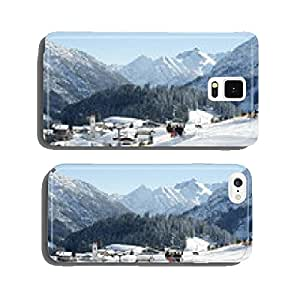 Winter panorama of Warth in Arlberg cell phone cover case Samsung S6
