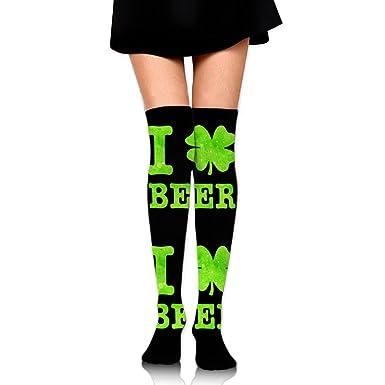 bb8e9b76 Amazon.com: I Shamrock Beer Irish St Patrick's Day Unisex Over Knee ...