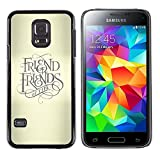 UPPERHAND ( NOT FOR S5 Regular )Stylish Image Picture Smartphone Hard Rugged Case Cover For Samsung Galaxy S5 Mini, SM-G800 - friend keep god cross beige text