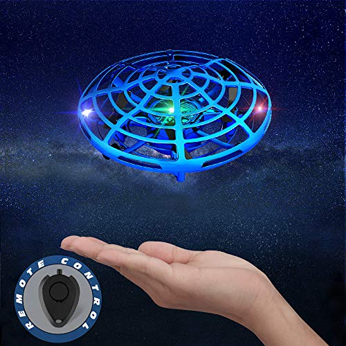 Betheaces Hand Operated Drones Kids Toys - Interactive Infrared Induction Quadcopter with LED Lights Flying Ball Drone Indoor Outdoor Toys for Boys or Girls Gifts