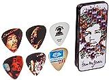 Dunlop JHPT07M Jimi Hendrix Hear My Music Pick Tin, Assorted, Medium, 6 Picks/Tin