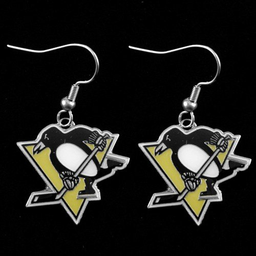 (Pittsburgh Penguins - NHL Team Logo Dangler Earrings)