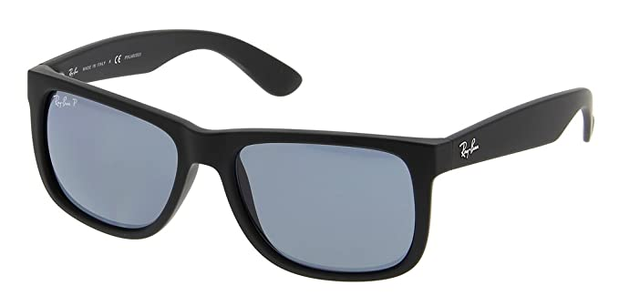 361b9b72408 Amazon.com: Ray Ban RB4165 622/2V 55 Black Rubber/Dark Blue ...