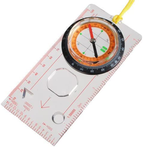 Super Scouts Military Compass Scale Ruler Baseplate Compass For CampingF5X6 A1F6