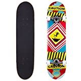 Cal 7 Complete Skateboard, Popsicle Double Kicktail Maple Deck, 31 inches, Perfect for All Skate Styles in Graphic Designs