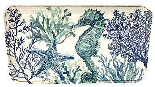 Coastal Home Sea Life Tidbit Tray One Size Blue/green/ivory