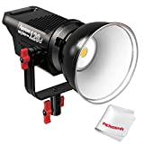 #9: Aputure Light Storm COB 120D 135W 6000K Daylight Balanced LED Continuous Video Light CRI96+ TLCI96+ 14000lux@0.5M Bowens Mount Dual Power Supply 2.4G Remote Control 18dB Low Noise V-Mount Plate