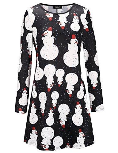 Ruiyige Dress Line A New Women's Pullover Girl 2 Flared Christmas Women 8PZHrxnq8