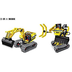 Innovative Brain Toys | STEM Learning | 342 Piece Educational Construction Engineering Building Blocks Set for 5-7+ Year Old Boys & Girls | Excavator and Robot| Best Toy Gift for Kids Ages 5+