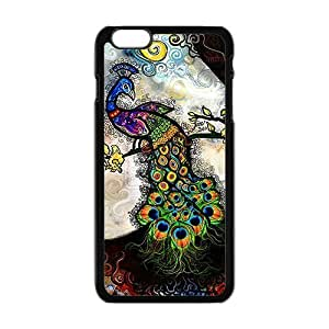 Happy Colorful peacock Cell Phone Case for iphone 4 4s