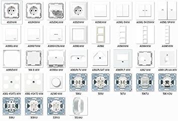 Schalter /& Steckdosen Jung AS500 alpinwei/ß Set Auswahl