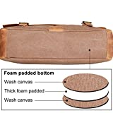 WOWBOX-Messenger-Satchel-bag-for-men-and-women-Vintage-canvas-real-leather-14-inch-Laptop-Briefcase-for-everyday-use-13Lx105H-x-41W