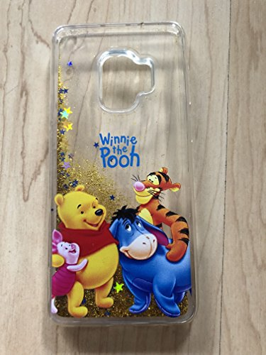 Winnie The Pooh Sparkle Liquid Glitter Quicksand Case For Samsung Galaxy S9 Plus --Ship From NY# 4