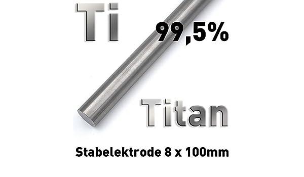 rundstab rollo de titanio 100 x ⌀ 8 mm redonda de metal (Barra material muestras Ti Grade 1: Amazon.es: Industria, empresas y ciencia