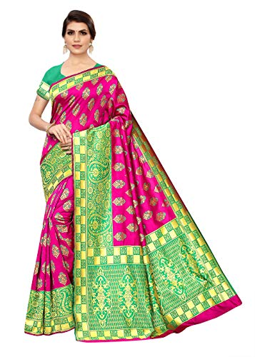 GLE Cotton Blend Banarasi Sarees With Blouse, For All Occasions, Ideal For Women & Girls (MORE THAN 20 DESIGNS)