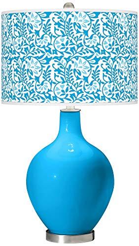 Sky Blue Gardenia OVO Table Lamp - Color + Plus ()