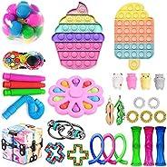 Mais recente conjunto de brinquedos sensoriais, Fidget Toys Pack para adultos e crianças, Push Bubble Pop, Fid