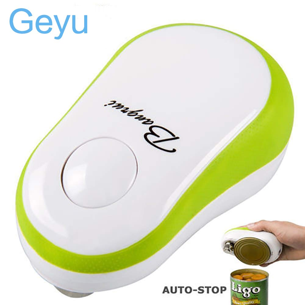 Electric Can Opener, Restaurant can opener, Smooth Edge Automatic Can Opener for Seniors Arthritis, Green