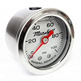 diesel fuel pressure gauge - Marshall Instruments LS00100 Liquid Filled Fuel Pressure Gauge Silver