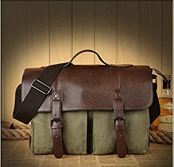 Men Canvas Vintage Casual Briefcase Business Shoulder Bag Messenger Bags Computer Laptop Handbag Bag Mens Travel Bags