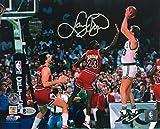 #9: Larry Bird Celtics Signed 8x10 vs Michael Jordan Photo BAS + Bird Holo