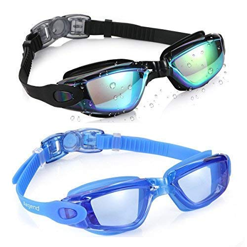Aegend Swim Goggles, Pack of 2 Swimming Goggles No Leaking Anti Fog...